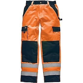 Dickies miesten korkea näkyvyys eli teollisuuden 300 lastin housut oranssi