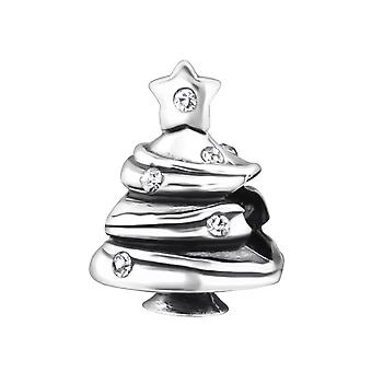 Christmas Tree - 925 Sterling Silver Jewelled Beads - W27666x