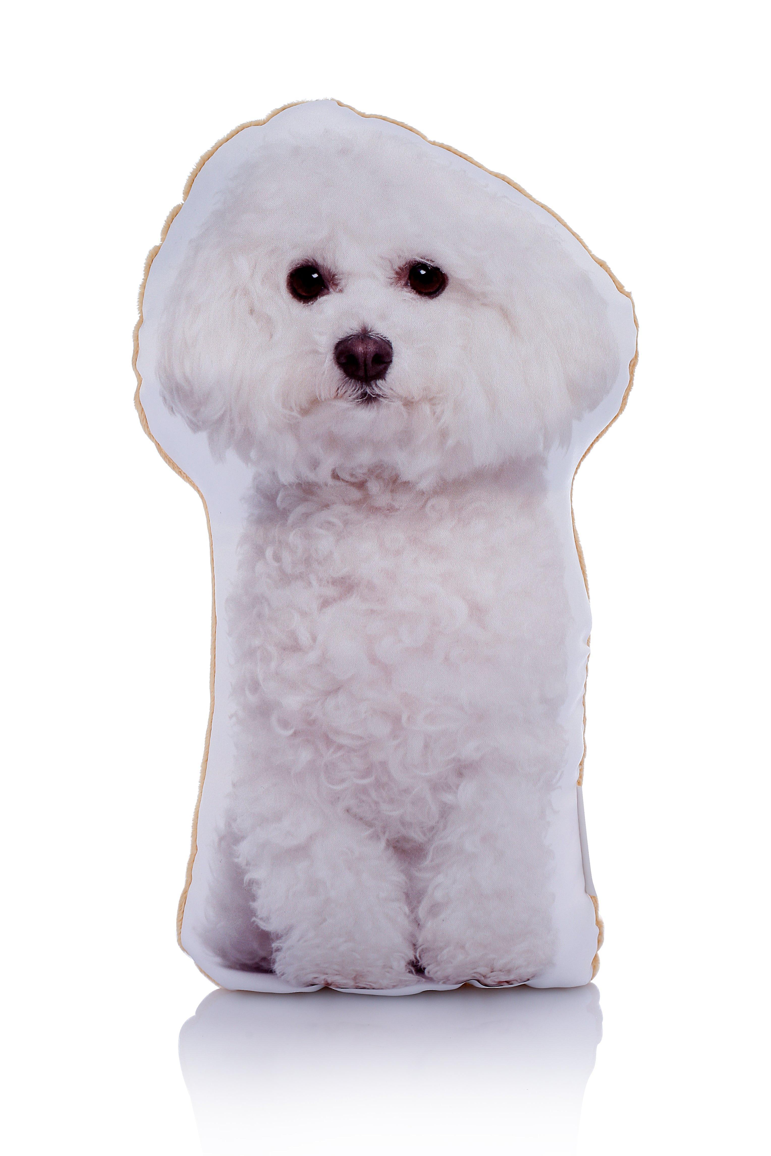 Adorable bichon frise shaped midi cushion