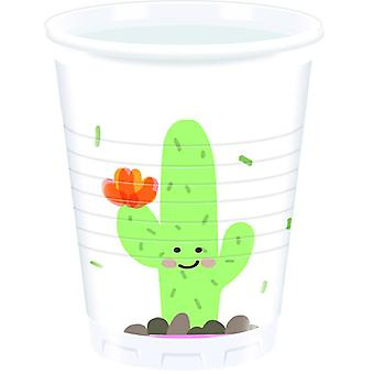 Cactus party Cup drinking cups 200ml 8 piece children birthday theme party