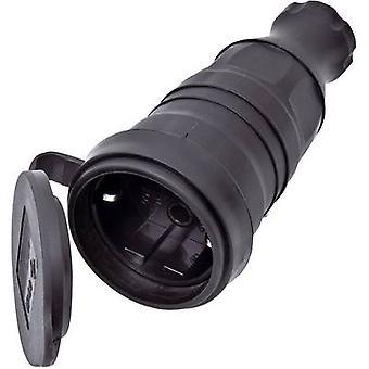 interBär 9005-004.01 Safety mains socket Rubber 230 V Black IP44
