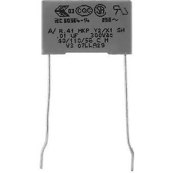 Kemet R413N31000000M+ 1 pc(s) MKP suppression capacitor Radial lead 100 nF 300 V 20 % 22.5 mm (L x W x H) 26.5 x 8.5 mm x 17
