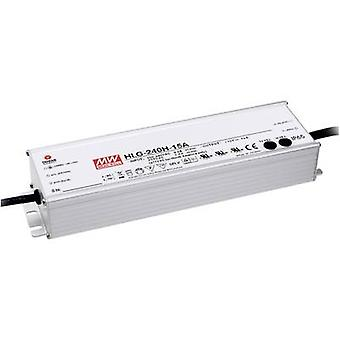 Mean Well HLG-240H-36B LED driver, LED transformer Constant voltage, Constant current 241 W 6.7 A 18 - 36 V DC dimmable, PFC circuit, Surge protection