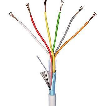 ELAN 20061 Alarm wire LiYY 6 x 0.22 mm² White Sold per metre