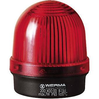 Werma Signaltechnik Luz 200.100.00 200.100.00 Señal roja de luz sin parar 12 V AC, 12 V DC, 24 V AC, 24 V DC, 48 V AC, 48 V DC, 110 V AC, 230 V AC