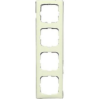 Busch-Jaeger 4x frame Duro 2000 SI lineaire crème-wit 2514-212K