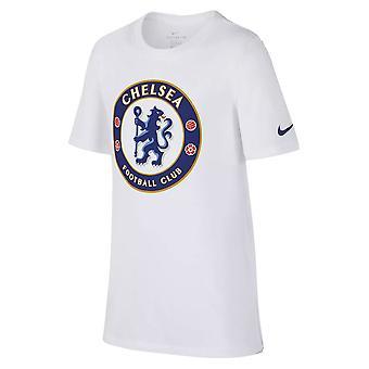 2018-2019 Chelsea Nike Crest T-Shirt (weiß) - Kinder