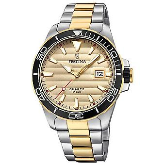 Festina Mens Two-tone Stainless Steel Gold Dial F20362/1 Watch