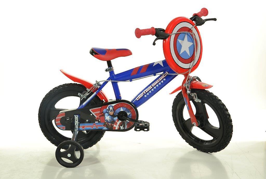 Attraktiva Captain America barn cykel 16 tum diameter | Fruugo OW-08