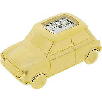Gift Time Products Mini Car Miniature Clock - Gold