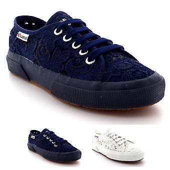 Womens Superga 2750 Macrame Fashion Lace Casual Low Top Summer Trainers