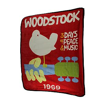 Woodstock 1969 Peace Dove Poster Throw Blanket 50 By 60 Inches
