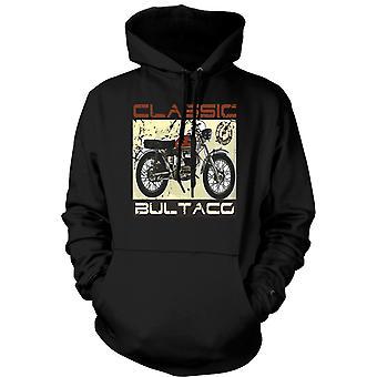 Mens Hoodie - Bultaco classique Dirt Bike