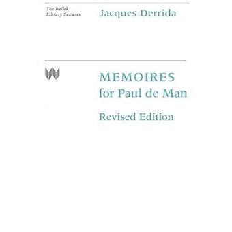 Memoiren für Paul De Man (Revised Edition) von Jacques Derrida - 97802
