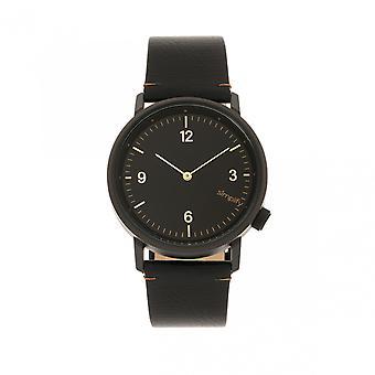 Simplificar el reloj de la banda de cuero de 5500 - negro