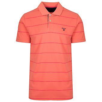 GANT Coral Orange gestreift Polo Shirt