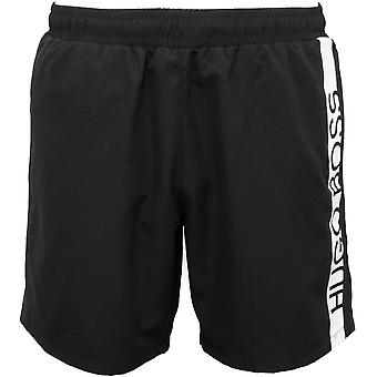 Boss Dolphin Logo Swim Shorts, Black