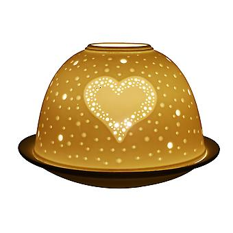 Light-Glow Heart Lithophane Dome Tealight Candle Holder