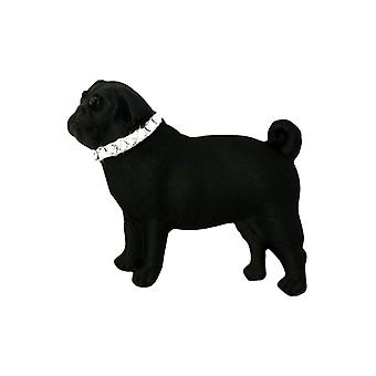 Eternal Collection Paco The Pug Black Enamel And Austrian Crystal Dog Brooch
