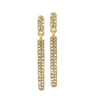 Eternal Collection Catalunya Topaz Itävallan Crystal Gold Tone Drop lävistetty korva korut