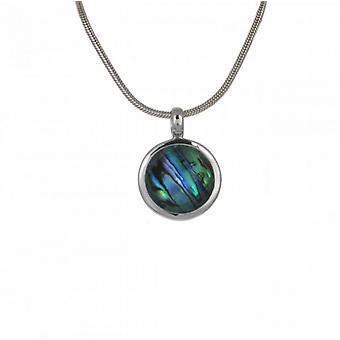 Cavendish cristal Français surmonté Abalone rond pendentif