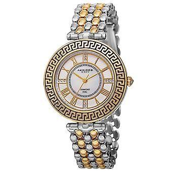 Akribos XXIV Women es Japanese Quartz Diamond Markers Unique Bracelet Watch AK808TTG