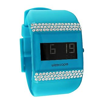Wize and Ope Classic  Blue Digital  Watch WO-ALL-10S