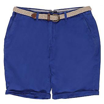 Scotch & Soda Belted Pima Cotton Shorts, Colour 54 Marine