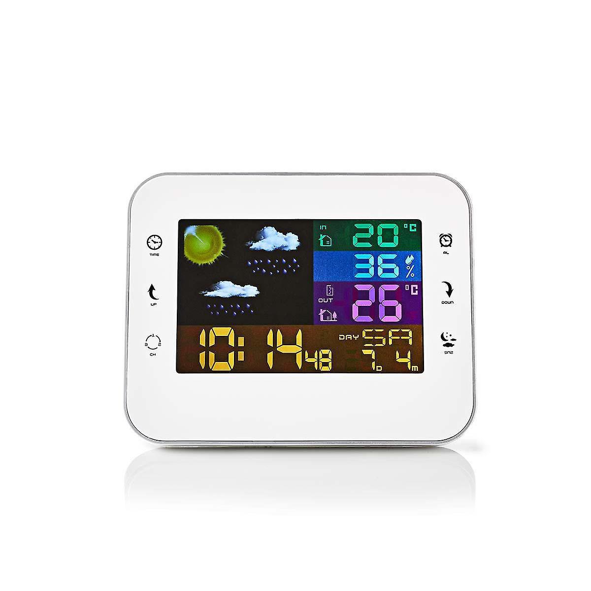 Nedis Weather Station | Wireless Sensor | Alarm Clock | Weather forecast WEST402WT