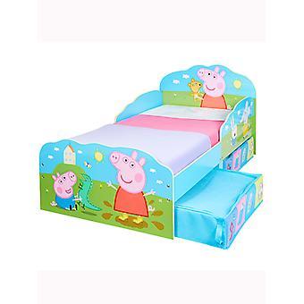 Peppa Pig Toddler Letto con stoccaggio