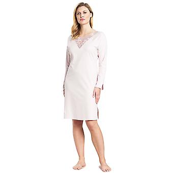 Féraud 3191003-11577 Mujeres's High Class New Rose Pink Motif Cotton Night Gown Nightdress Nightdress Nightdress