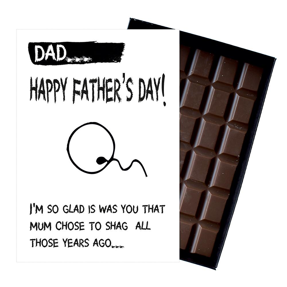 Funny Fathers Day Gifts For Dad Presents for Dad Daddy 85g Boxed Chocolate FD103