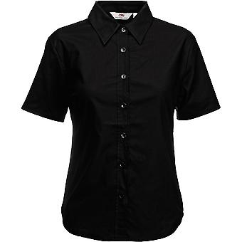 Fruit Of The Loom - Lady-Fit Ladies Oxford Short Sleeve Shirt