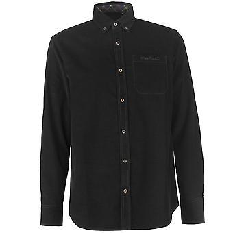 Pierre Cardin Herren Corduroy Shirt Casual Top Button regelmäßig