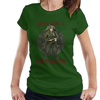 Action Man On A Mission Women's T-Shirt