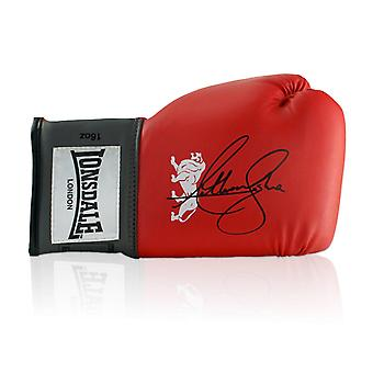 Anthony Joshua Signed Red Boxing Glove