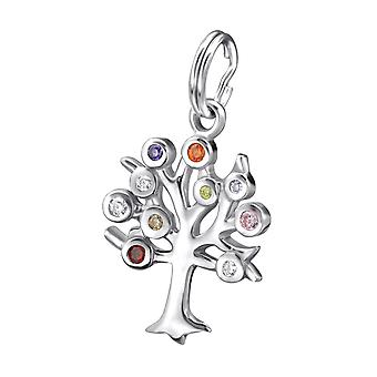 Tree - 925 Sterling Silver Charms with Split ring - W27395X