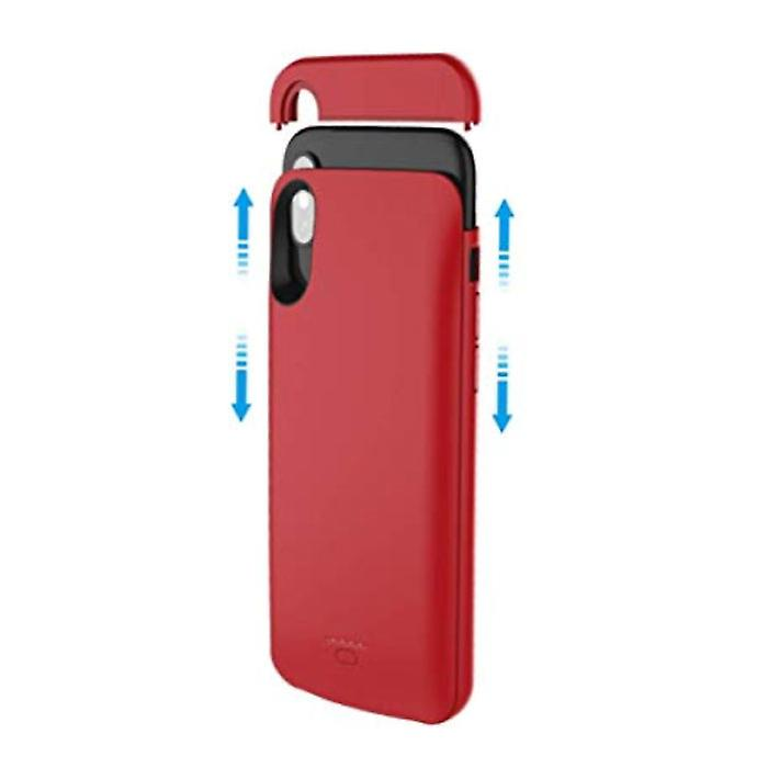 Stuff Certified® iPhone XR 5000mAh Slim Powercase Powerbank Charger Battery Cover Case Case Red