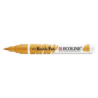 Talens Ecoline Liquid Watercolour Brush Pen - 407 Deep Ochre