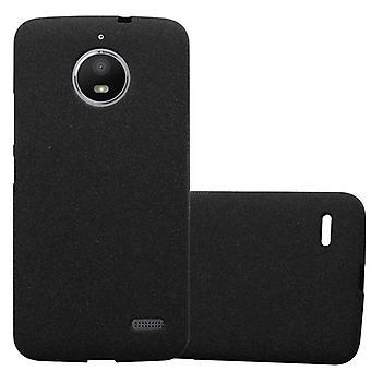 Cadorabo fallet för Motorola MOTO E4 fodral Cover-mobiltelefon fall tillverkad av flexibla TPU Silikon-silikonfodral skyddande fodral Ultra Slim soft tillbaka täcker fallet stötfångare