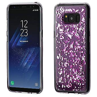 MYBAT zilveren vlokken (T-Purple) Krystal gel serie Candy Skin cover voor Galaxy S8 plus