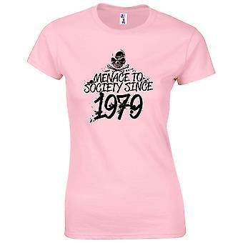 40 års fødselsdag gaver til kvinder hendes trussel mod samfundet 1979 T-shirt