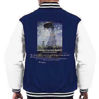 A.P.O.H Oscar Claude Monet Nature Quote Men's Varsity Jacket