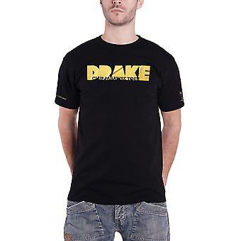 Drake T Shirt Club Paradise Tour Glitter Logo OVO Dates Official Mens New Black