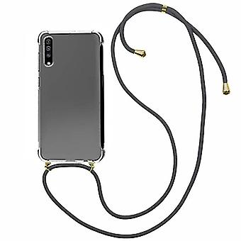 Backcover Shockproof Koord TPU + PC voor Samsung A30S Transparant