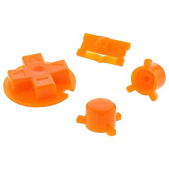 Replacement button set a b d-pad power switch for nintendo game boy pocket - orange