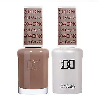 DND Duo Gel & Nail Polish Set - Cool Gray 604 - 2x15ml