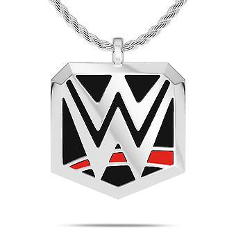 WWE Pendant Necklace In Sterling Silver Design by BIXLER