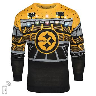 NFL Ugly Sweater XMAS LED Pullover - Pittsburgh Steelers