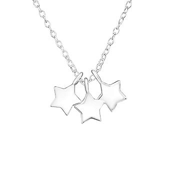 Stars - 925 Sterling Silver Plain Necklaces - W17074x